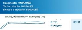 Saugansatz Yankauer FT Medium 6 mm, 4 Augen einteilig, steril