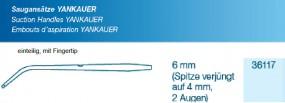 Saugansatz Yankauer FT Small 6 auf 4mm verjüngt, 2 Augen einteilig, steril