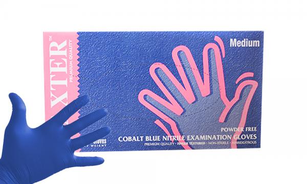 Einmalhandschuhe Nitril dunkelblau