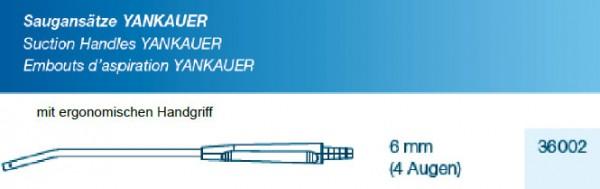 Saugansatz Yankauer medium 6 mm, mit ergonomischen Handgriff, steril
