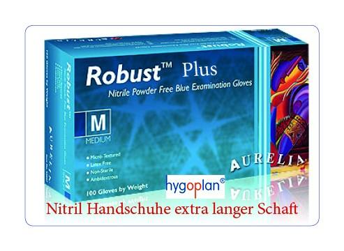 Aurelia® Robust Plus Handschuhe Nitril puderfrei - blau