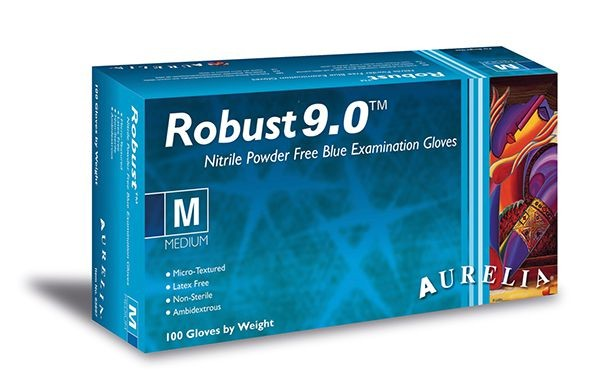 Aurelia Robust 9.0 Nitrilhandschuhe blau