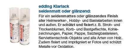 edding Permanent Spray Klarlack glänzend