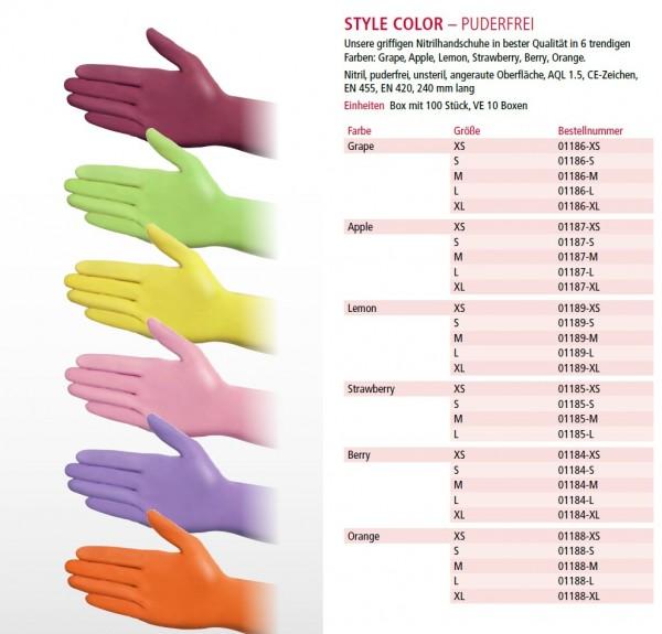 Nitril Einmalhandschuhe in Ihrer Lieblingsfarbe