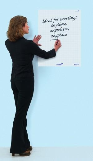 Magic-Chart whiteboard blanko weiße elektrostatisch haftende große Schreibblätte