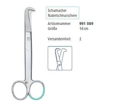 Schumacher Nabelschnurschere peha instrument, Einweg, steril, 20 Stück