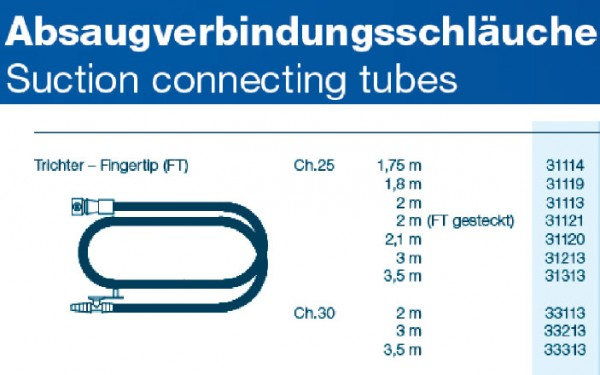 OP Schlauch Fingertip - Trichter CH25 350cm, steril