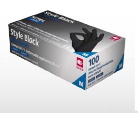Style Black Nitril Handschuhe schwarz