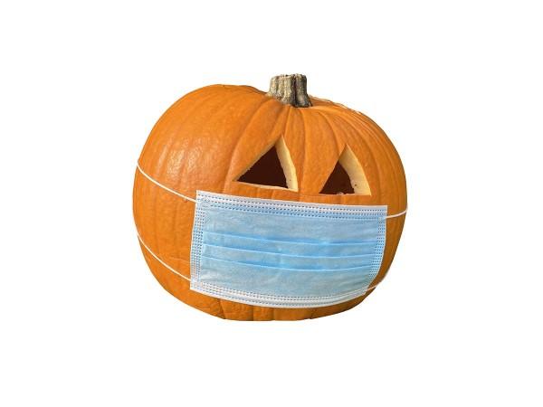 medizinischer mund-nasen-schutz blau (ohne Kürbis :-) )