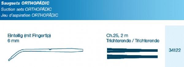 OP Saugset Typ Orthopädic FT 6mm einteilig mit Verbindungsschlauch CH25 200cm Trichter