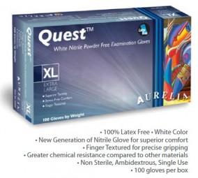 Aurelia® Quest Handschuhe Nitril puderfrei - weiß, 100er Box