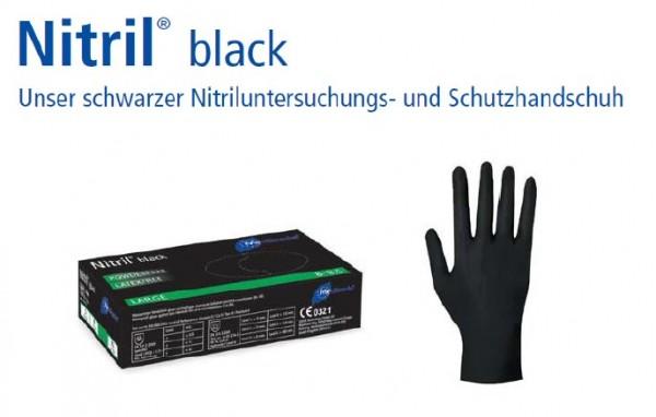 Nitril® black Einmal-Handschuhe Nitril schwarz