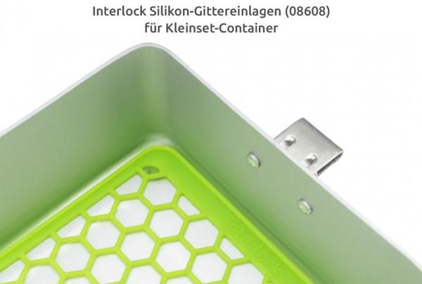 "Silikon-Gittereinlage - ""Wabenstruktur"" - grün"