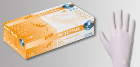Unigloves White Pearl Nitrilhandschuhe weiss