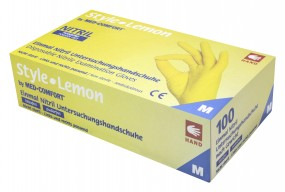Style Lemon Handschuhe Nitril leuchtend gelb, Box 100 Stück