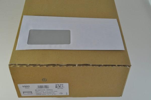 Briefumschlag DIN Lang mit Fenster, selbstklebend, 100er