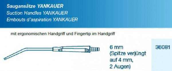 Saugansatz Yankauer Small verjüngt mit Fingertip