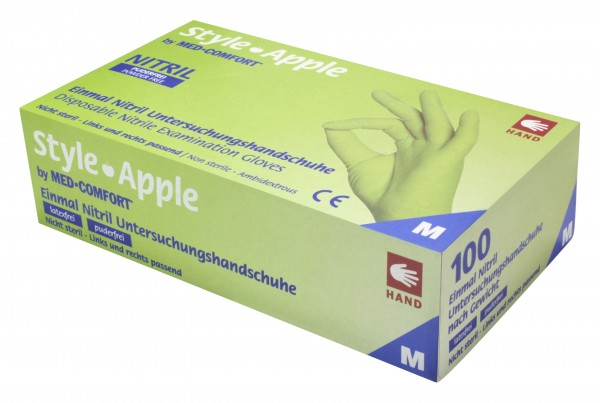 Style Apple Handschuhe Nitril, apfelgrün