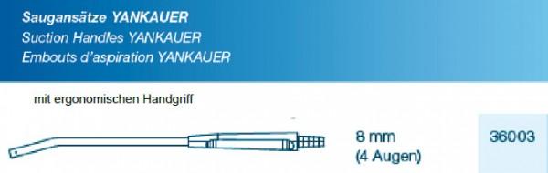 Saugansatz Yankauer large 8mm, 4 Augen mit ergonomischen Handgriff, steril