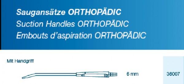 Saugansatz Orthopädic 6mm flache Spitze mit ergonomischen Handgriff, steril