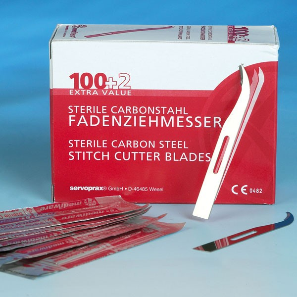 Fadenziehmesser steril kurz (VE 100 + 2 Stück)