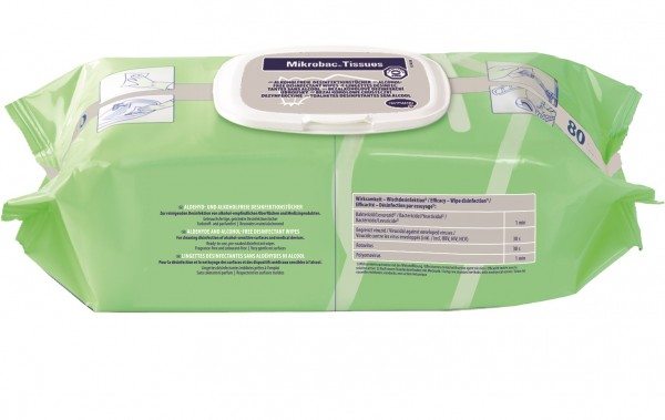 Mikrobac® Tissues Desinfektionstücher Flowpack