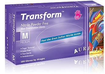 Aurelia Transform Einmalhandschuhe Nitril blau