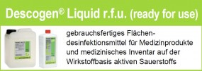 Descogen Liquid r.f.u Flächendesinfektionsmittel, (VE = 10 x 1 Liter)