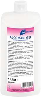 Alcoman Gel Beispielbild - Lieferumfang 500ml