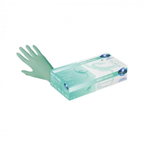 Unigloves Mint Pearl Einmalhandschuhe Nitril hellgrün