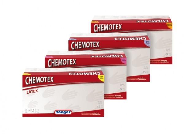 CHEMOTEX Schutzhandschuhe Latex puderfrei,extra stark, Box a`50 Stück