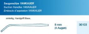 Saugansatz Yankauer Large 8 mm, 4 Augen einteilig, steril
