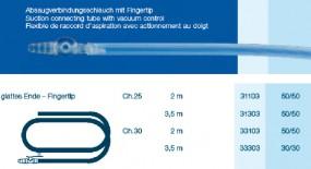 OP Schlauch glatt - Fingertip, Ch25 350 cm, steril