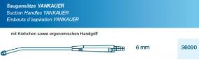 Saugansatz Yankauer mit Körbchen 6 mm, ergonomischer Handgriff, steril