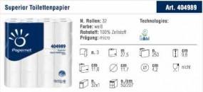 Toilettenpapier Papernet Superior 3lagig, 250Bl. 32er Jumbo-Pack